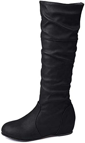 Minetom Zapatos Mujer Otoño Invierno Moda Botas De Nieve Mujer Botines De Mujer Zapatos De Nieve Cálida Botas De Plataforma Zapatos De Tacón Zapatillas Zapatos Interiores Negro 40 EU