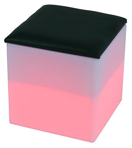 LED Siège boîte de cube 40 cm multicolore RGB 16 couleurs sans câble avec accumulateur et télécommande Etanche et flottant IP65 Extérieur lampe mood decoration Luminaire Design