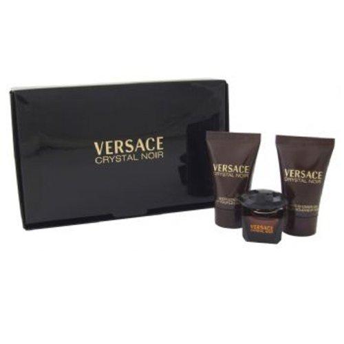 Versace Crystal Noir Geschenkset 5ml EDT + 25ml Körperlotion + 25ml Duschgel