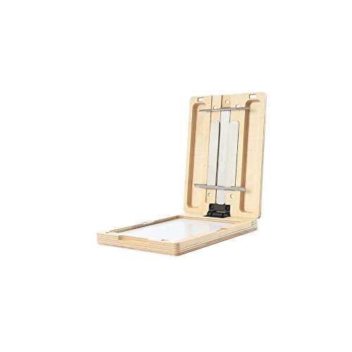 New Wave U.Go Plein Air Anywhere Pochade Box, Ultra Lightweight Baltic Birch Wood with Stainless Steel and Aluminum Construction, Small Measures 6 x 8 x 1.25 inches (00703)