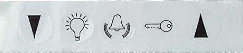 Elso 979060 Symbolaufkleber Symbole Klingel, Licht Türöffner und Jalousie