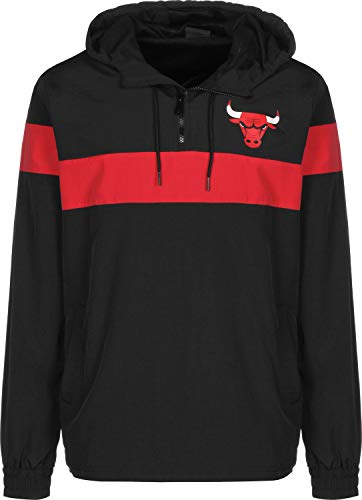 New Era Chicago Bulls Striped Herren Windbreaker schwarz/rot (L)