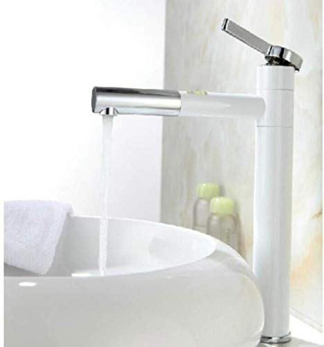 Kraan wit schilderij Deck gemonteerd aanrecht schip wastafel mixer kraan lange draaibare uitloop badkamer en keuken