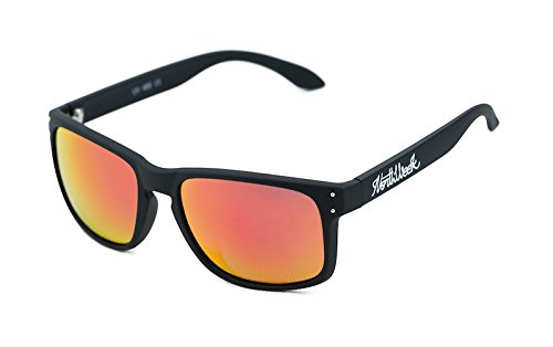 NORTHWEEK Bold Gafas de sol, Matte Black/Red Polarized, 45 Unisex