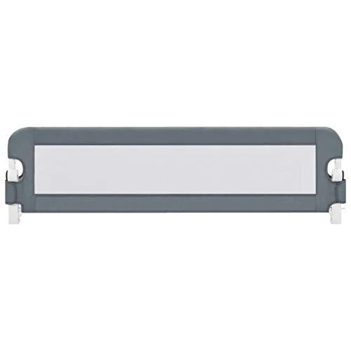 Barandilla de Cama Abatible 150 x 42 cm, Barrera de Seguridad Plegable...
