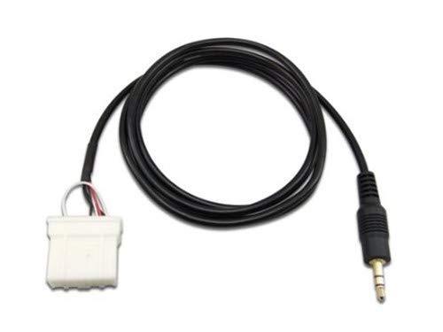 Goliton Cavo AUX da 3,5 mm Collegare audio AUX Compatibile con cavo adattatore connettore Mazda Car Player (2 metri di lunghezza)