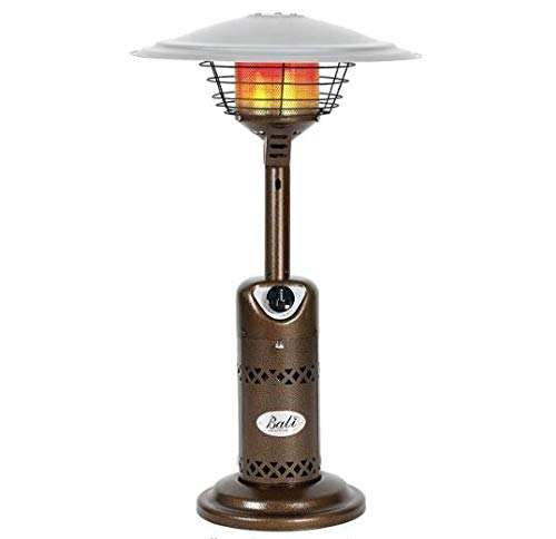Sanyyanlsy Outdoors Portable Patio Heater, Propane Table Top Glass Tube Patio Heater, Bronze Stainless Steel Courtyard Propane Heater Quartz Glass Tube Gas Heater US Stock,Bronze