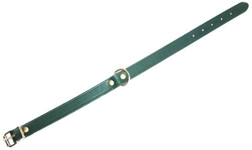 Heim 6000884 Lederhalsband, 30 mm breit, 65 cm lang, grün