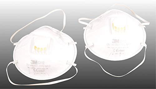 2er Set Atemschutzmaske, Schutzmaske mit Ausatemventil, Schutzstufe FFP2 NR D, N95 - 2