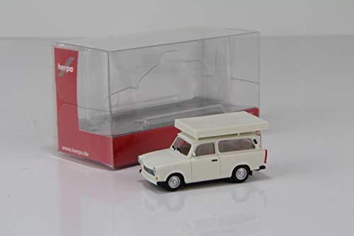 herpa Trabant 601 Universal Dachzelt perlweiß 024181-002 - 1:87 - /HN662