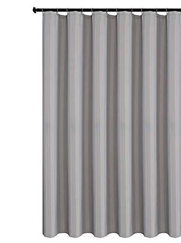 Duschvorhang, Stoff, dunkelgrau, 180cm x 200cm,Hellgrau,Enthält nicht 12 Haken