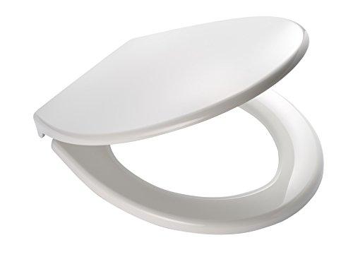 RIDDER 02101101 Toilet Seat Miami, White, Polypropylène, Blanc, 44,7 x 37,2 x 4,9 cm