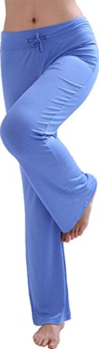 HOEREV Frauen Soft Modal Slimming Hose Yoga Hosen Pyjama-Hose, Light, 3XL