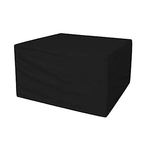 Huolirong Funda Protectora para Muebles Rectangular Impermeable Funda For Mesa Tarea Pesada Oxford Cubierta Protectora Muebles De Jardín Funda (Color : Black, Size : 242 * 162 * 100cm)