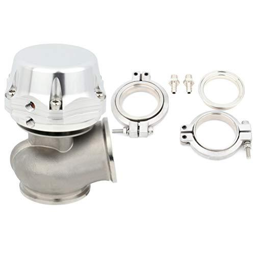 TUPARTS Universal External 20-Psi 50mm Turbocharger V-Band 5.25'Wastegate+Spring Silver