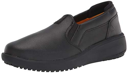 Caterpillar womens Prorush Sr+ Slip on Wmn Food Service Shoe, Black, 8 Wide US