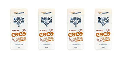 Le Petit Marseillais - Ducha y baño (coco, 650 ml, 4 unidades)
