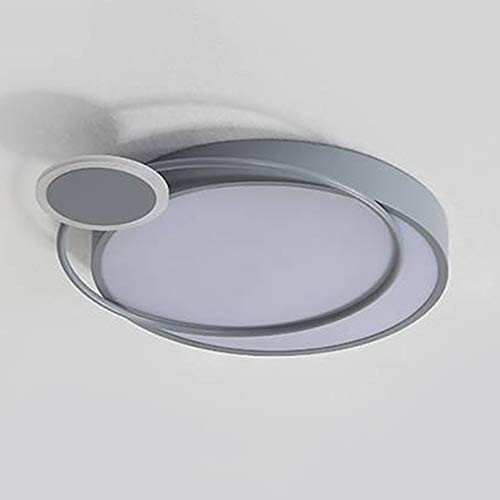 Ceiling lamp Éclairage ménager Circulaire Minimaliste Moderne Conversion Tricolore plafonnier de Chambre à Coucher Moderne élégant et Beau adapté à Divers endroits