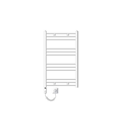 ECD Germany Badheizkörper Elektrisch 600 x 800 mm mit Heizstab 1200 W - Weiß - gerade mit Seitenanschluss - Heizkörper Handtuchwärmer Handtuchtrockner Handtuchheizkörper Handtuchheizung Heizung