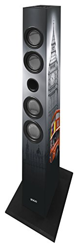 Sogo ALT-SS-8715 - Altavoz Torre con Bluetooth Multimedia, Color Gris