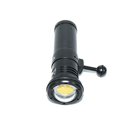 Nitescuba NSV80 COB LED Photo Video Light 8000lumen High CRI 95 Linterna Subacuática Para Fotografía Con Función Estroboscópica Instantánea(Color:NSV80 black)