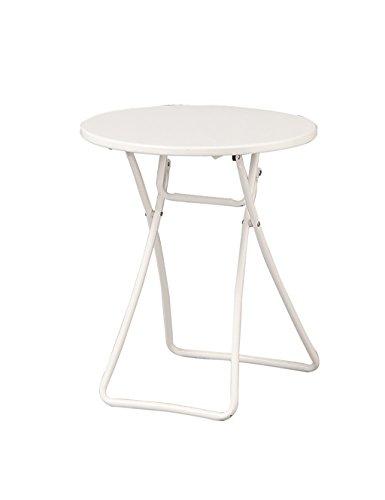 Table Pliante Portable Balcon Table Ronde Extérieure Table Pique-Nique Vert Et Blanc (Couleur : Blanc, Taille : D*H:46 * 46cm)