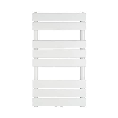 VILSTEIN Badheizkörper, Flach, Weiß, Seitenanschluss und Mittelanschluss, 800x450 mm