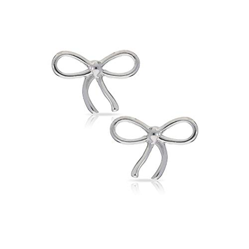 Bow Tie Knot Ribbon Inspired Earrings Never Rust 925