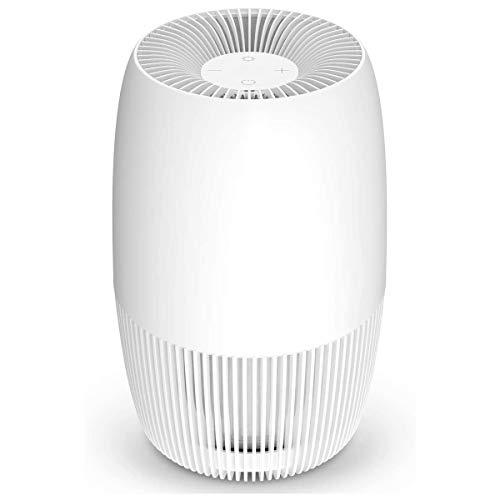 AwesomeWare Desktop Air Purifier for Smallroom with Ionizer & Triple True HEPA Filter Desktop Air...