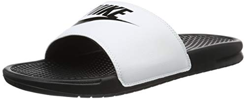 Nike Benassi Just Do It, Ciabatte Uomo, White/Black 100, 41 EU