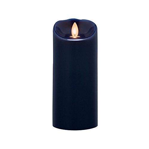 Sterno Home MGT814307NB00 Navy Blue Wax Pillar with Timer