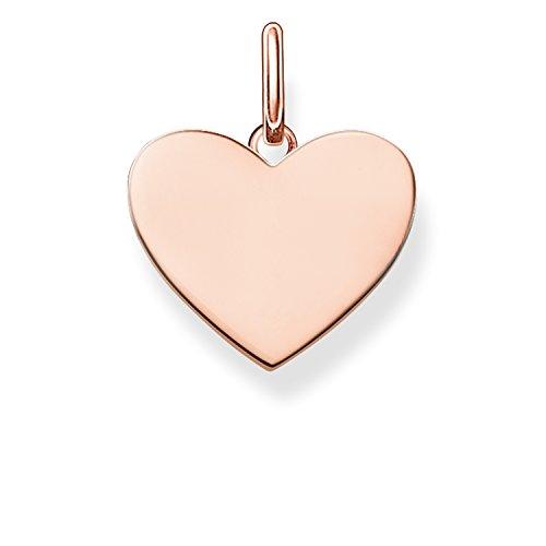 Thomas Sabo Damen-Anhänger Love Bridge Herz 925 Sterling Silber 750 rosegold vergoldet 1.5 cm LBPE0002-415-12