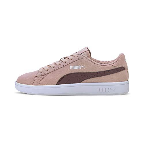 PUMA Smash v2 SD Jr Sneaker, Peachskin-Burgundy, 36 EU