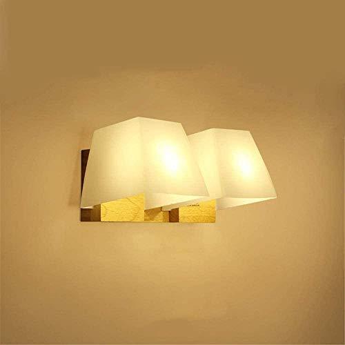 Lámpara de pared Nórdico moderno minimalista creativo artesano de madera decoración japonesa doble lámpara de pared