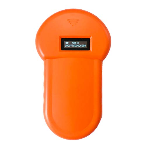 Le Touch Handheld-LED-ID-Lesegerät für Haustier-Mikrochips für FDX-B-Scanner, Haustier-Mikrochip-Scanner, Haustier-Mikrochip-Lesegerät für Tiere, Orange
