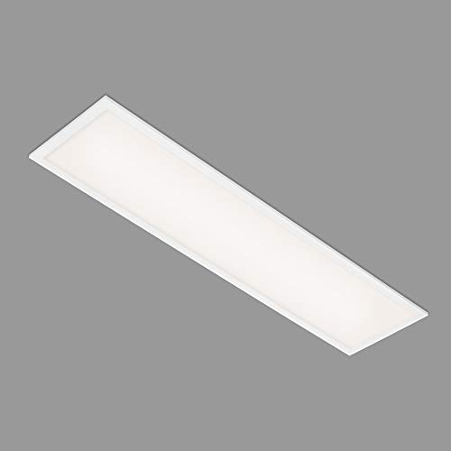Briloner Leuchten - Panel LED, lámpara de techo LED, plafón de 22 vatios, 2200 lúmenes, 4000 Kelvin, blanco, 1000x250x60 mm, 7067-016