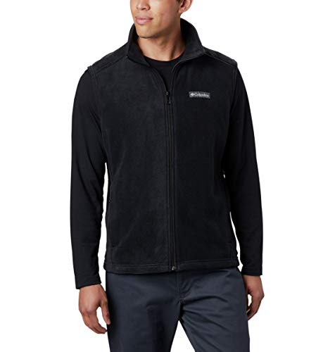 Columbia Men's Steens Mountain Full Zip Soft Fleece Vest, Black, Small