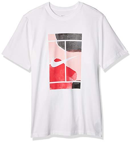 Nike Herren Nikecourt Trikot, Blanco, XL