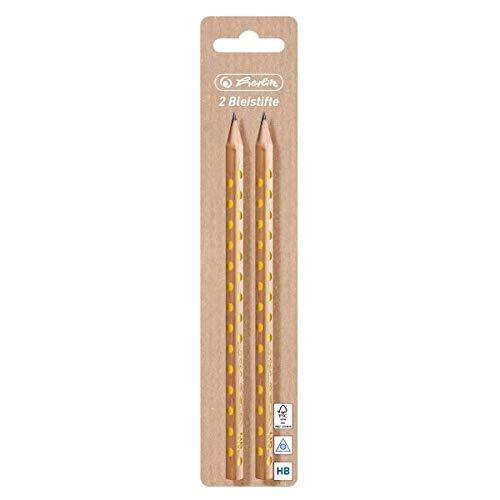 Herlitz 50022229 Bleistift Pure Glam, HB, dreikant, 2 Stück