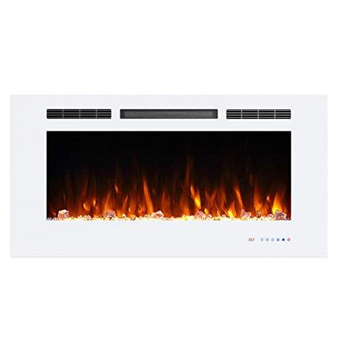 DYHA elektrische open haard met verwarming regelbare thermostaat LED-verlichting 750/1500 Watt vermogen van glazen vlammen met houtdecoratie elektrische haard