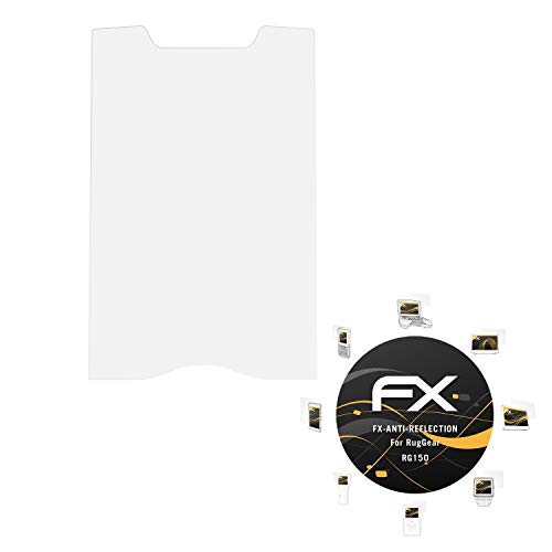 atFolix Panzerfolie kompatibel mit RugGear RG150 Schutzfolie, entspiegelnde & stoßdämpfende FX Folie (3X)