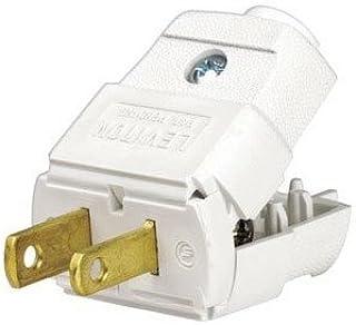 Leviton 101-WP 15 Amp, 125 Volt, Residential Grade, Polarized, Non-Grounding Plug, White - 10 Pack