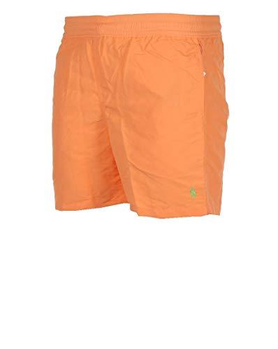 Ralph Lauren Herren Badehose Classic Hawaiian Boxer (Orange, XL)