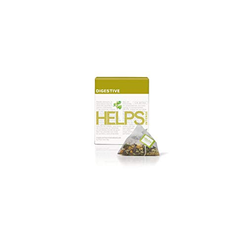 HELPS INFUSIONES - Infusión Digestiva Con Manzanilla, Menta, Anís E Hinojo. Helps Intense Digestive. Caja De 10 Pirámides.