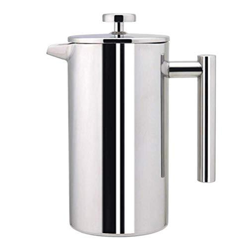 ZXvbyuff Edelstahl Französisch Press Kaffeemaschine |Doppelschalig isolierte Kaffee & Tee Brewer Pot & Maker |Hält gebrühter Kaffee oder Tee heiß |800 ml, for Home Office