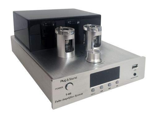 Amplificador de válvula 35 W + 35 W con USB y Bluetooth