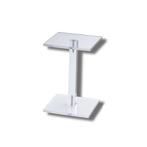 Deko-Säule Ständer aus Plastik, durchsichtig, Stellfläche 10x10 cm, Höhe 15 cm