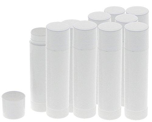 Lippenpflegestifte zum Selbstbefüllen, Lippenstifthülsen Kosmetex Lippenstift Hülse leer, 10 Stück