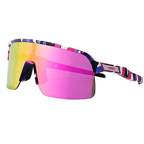 Mifty De Sol DeportivasHombres Y Mujeres, Gafas De Sol Deportivas con Lentes De Espejo, Gafas De Sol para Ciclismo, Carrera, Triatlón, Voleibol De Playa Y Senderismo Gafas (Color : Multi-Colored)