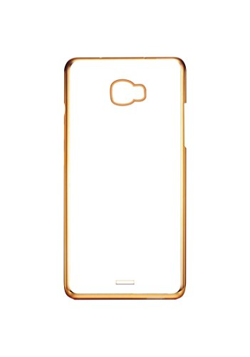 Case Creation 0.3mm 100% Transparent Soft Flexible Gold Finish Silicone TPU Slim Back Case Cover for Micromax Canvas Nitro A310